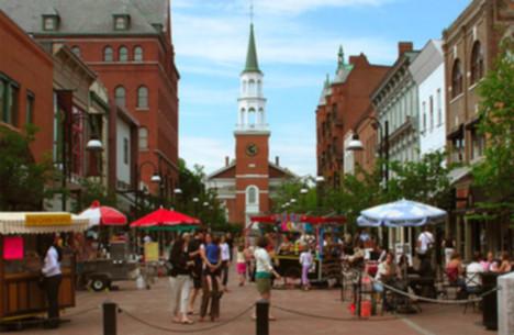 Burlington, la plus grande ville de l'État américain du Vermont